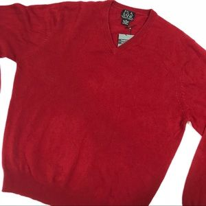 Jos. A. Bank red cashmere sweater